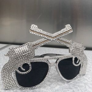 Swarovski Crystal Gun sunglasses